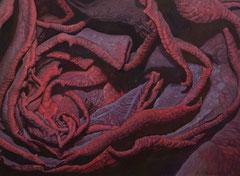 Μεταξωτό τριαντάφυλλο  κώδικας №120  (70χ95cm)    λαδι σε μουσαμα