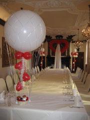 Heißluftballon ca. 80cm mit Dekoration (ohne Inhalt/Plüsch Brautpaar) 49,00€