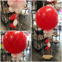 Heißluftballon ca. 80cm mit Dekoration 49,00€