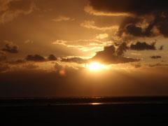 Toller Sonnenuntergang am Samstag