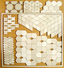 De zeven soorten vormen elk zelf ook een patroon