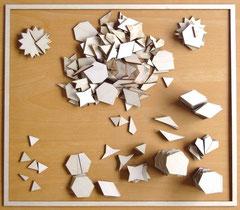Alle stukjes op tafel