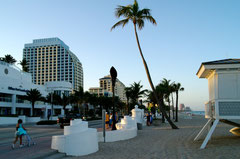 Fort Lauderdale Beach am Abend.