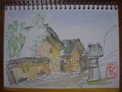 島根県 大田市宅野の町並み