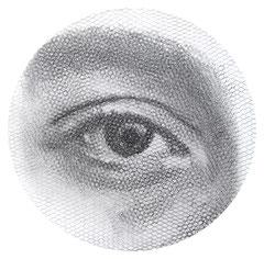Fabri's sight2018, 100x100cm, dieci fogli di rete metallica intagliati a mano