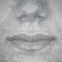 Fede's breath, 2018, 100x100cm, dieci fogli di rete metallica intagliati a mano