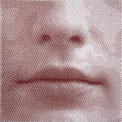 Ewa's breath, 2019, 100x100cm, dieci fogli di rete metallica intagliati a mano