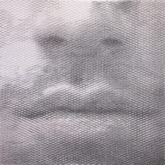 Cristiano's breath, 2018, 100x100cm, dieci fogli di rete metallica intagliati a mano