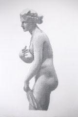 Afrodite di Menophantos, 2018, 200x78cm, dieci fogli di rete metallica intagliati a mano