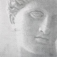 Venere di Arles, 2019, 100x100cm, dieci fogli di rete metallica intagliati a mano