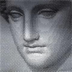 Venere, 2019, 100x100cm, dieci fogli di rete metallica intagliati a mano
