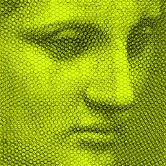Giunone Pentini, 2019, 80x80cm, dieci fogli di rete metallica intagliati a mano