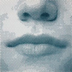 Sophie's breath, 2019, 100x100cm, dieci fogli di rete metallica intagliati a mano