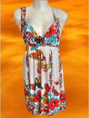 FashionStyles Partykleid Gr. M/L weiß gemustert