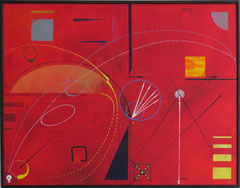 courbe du temps. tableau. abstrait. abstraction