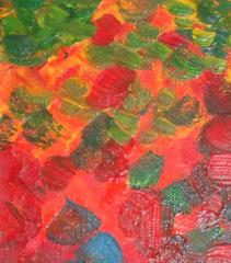 pré fleuri - zoom1, tableau abstrait