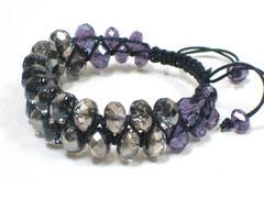Armband - Janis, Glasschliff
