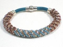 """Armband """"Belle de jour"""" - Nylon/Glas/Silber"""