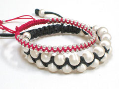 "Armbänder ""Janis"" - Sterlingsilber/Nylon"