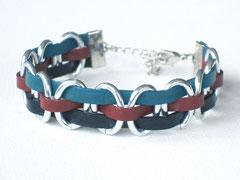"""Armband """"Janis"""" - Aluminium/Leder"""