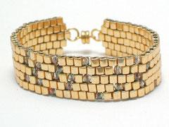 """Armband """"Belle de jour"""" - japanisches Glas/Nylon/Magnet"""