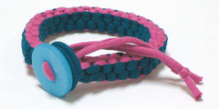 Janis - Armband türkis/pink