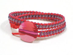 Wickelarmband - Janis, rot/violet