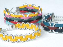 """Armbänder """"Janis"""" - Aluminium/Alcantara/Leder"""