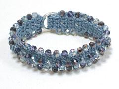 Armband - Undine, Glasschliff