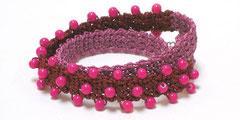 Undine - Wickelarmband - pink/bordeaux