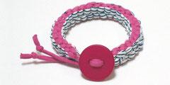 Janis - Armband pink/blau-weiß gestreift