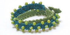 Undine - Wickelarmband - türkis/grasgrün