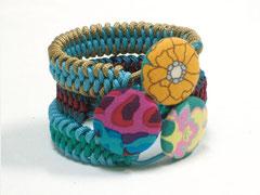3 Armbänder - Janis, doppelter Schlangenknoten