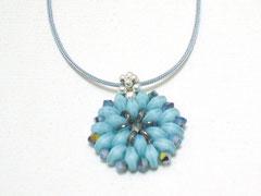 """Kette """"Flora"""" - jap. und tschech. Glas/Nylon/Sterling Silber"""