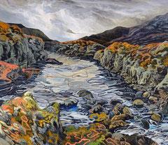 404 days of rain-6, 150x130cm, mixed media on canvas 2014