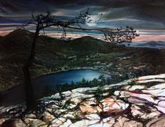 404 days of rain-11, 170x130cm, mixed media on canvas 2014