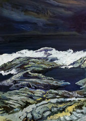 404 days of rain-9, 50x70cm, mixed media on canvas 2014