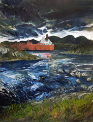 404 days of rain-10, 130x170cm, mixed media on canvas 2014