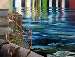 404 days of rain-13, 130x170cm, mixed media on canvas 2014