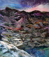 404 days of rain - 3, 160x140cm, mixed media on canvas 2014