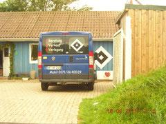 Ein Fliesenleger und HSV-fan in Süddorf/Amrum
