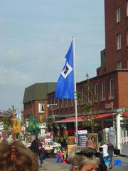 In Wyk auf der Insel Föhr:HSV-Fahne