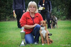 Platz 1 BH Einzelwettbewerb Beate Wiederich mit Xena