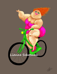 Lies op de fiets
