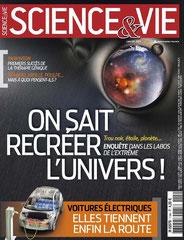 couverture science et vie janvier 2013
