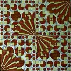 Viertelteilung-Pointillismus a. Fotokarton 68 cm x 68 cm