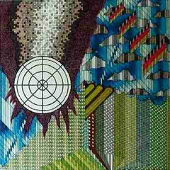 Konjunktur-Pointillismus-Marker a. Fotoskarton 68 cm x 68 cm