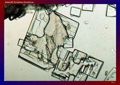 Süßstoff, Kristalline Strukturen-ca. 150x