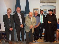 Europaabgeordneter  Schelhardt hält die Eröffnungsansprache und eröffnet die Luther Ausstellung im Museum Osterwieck