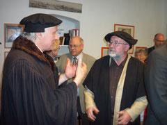 im Gespräch mit Herrn U.Simons  (Ortsbürgermeister von Osterwieck)